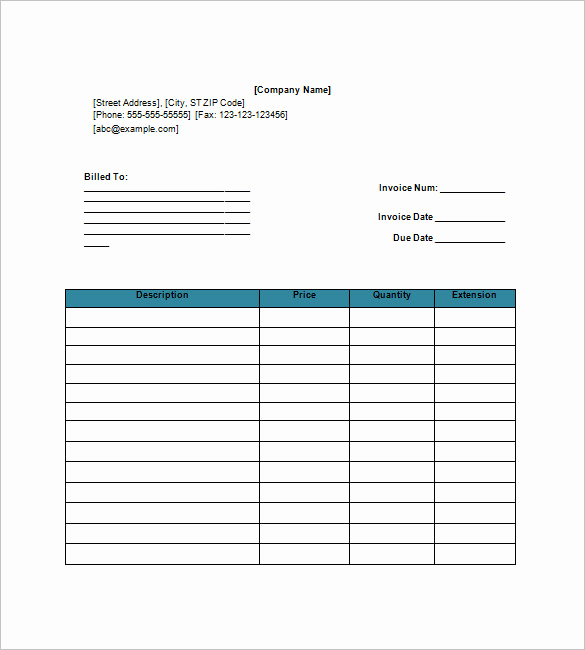 Invoice Template for Google Docs Lovely Download Invoice Template Google Docs