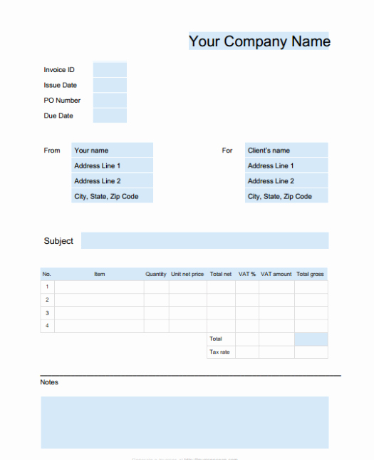 Invoice Template for Google Docs New 15 Free Google Docs Invoice Templates