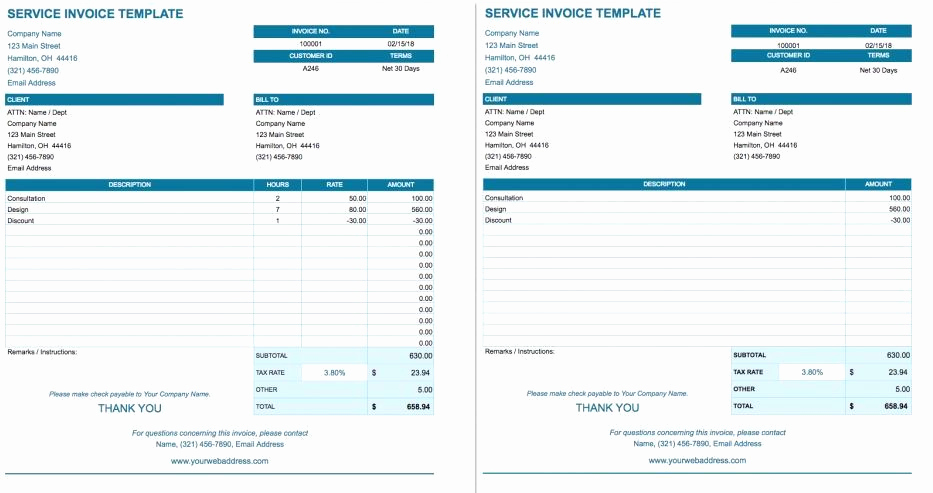 Invoice Template for Google Docs Unique How to Create Blank Invoice Templates On Google Docs