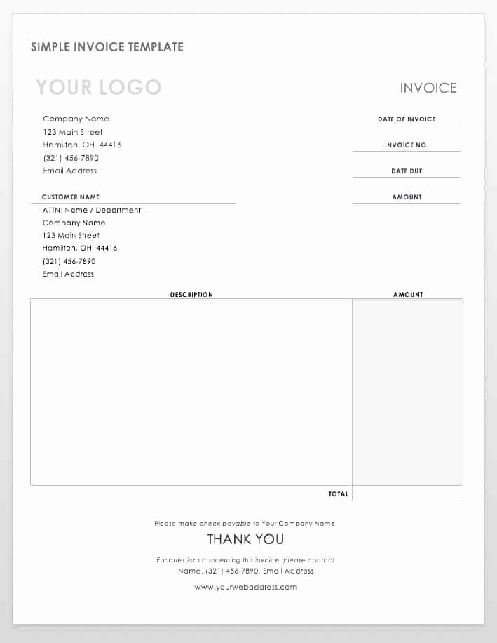 Invoice Template for Word New 55 Free Invoice Templates