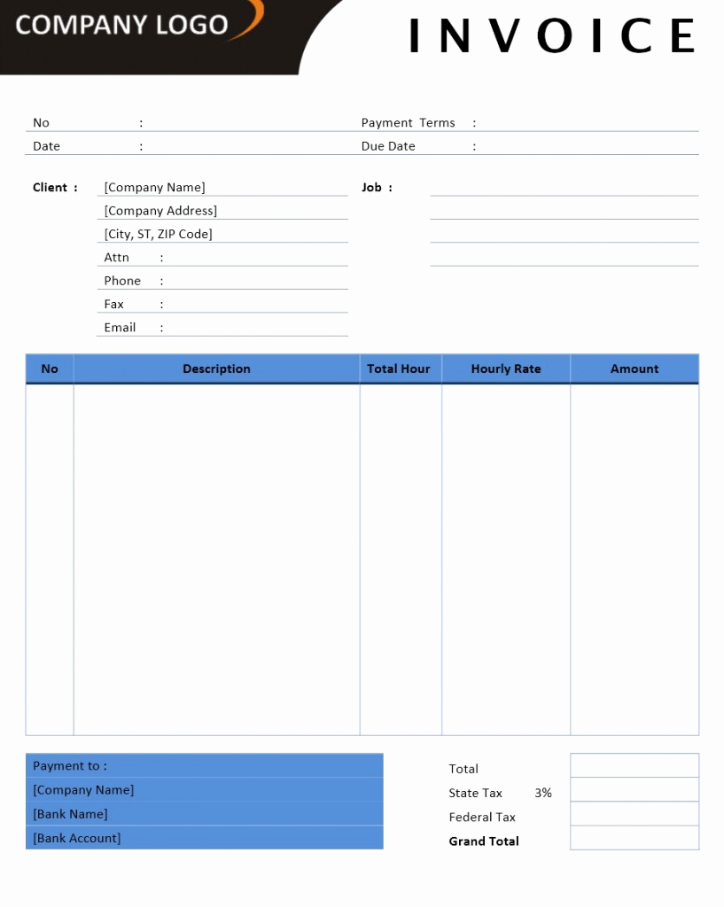 Invoice Template for Word New Microsoft Fice Billing Invoice Templates Free