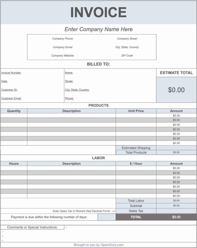 Invoice Template Google Drive Elegant Free Google Sheets Invoice Templates