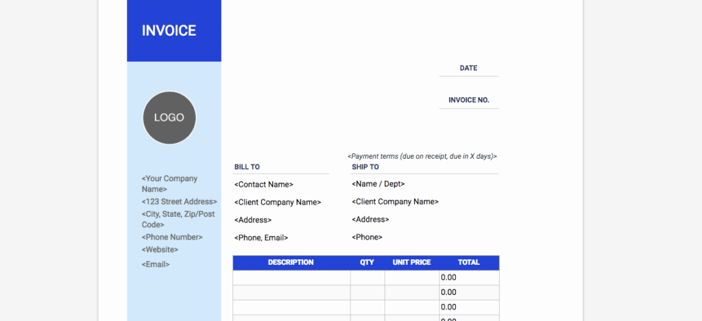 Invoice Template Google Drive Elegant Freelance Invoice Template — Free Answers to