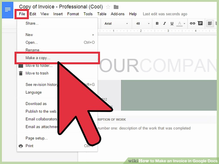 Invoice Template Google Drive Elegant How to Make An Invoice In Google Docs 8 Steps with