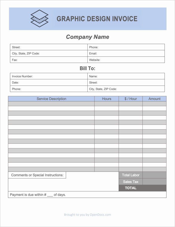 Invoice Template Google Drive New Free Graphic Design Invoice Template Pdf Word