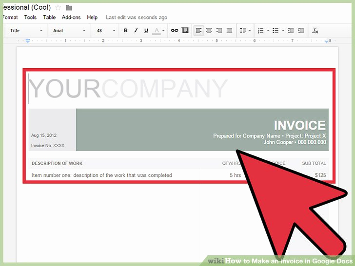 Invoice Template Google Drive Unique How to Make An Invoice In Google Docs 8 Steps with