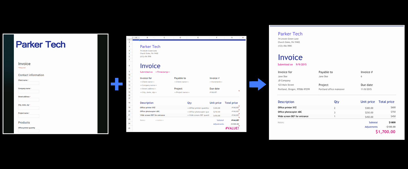 Invoice Template Google Sheets Lovely Use form Publisher with New Google Sheets Google Docs