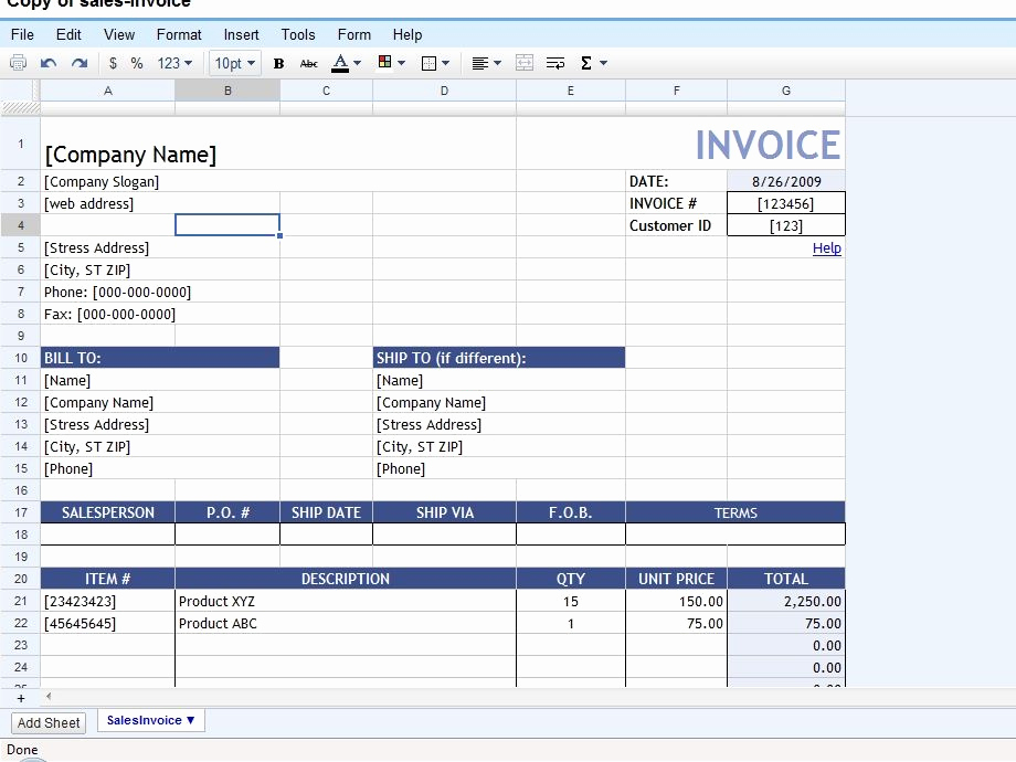 Invoice Template Google Sheets New 50 Time Saving Google Docs Templates