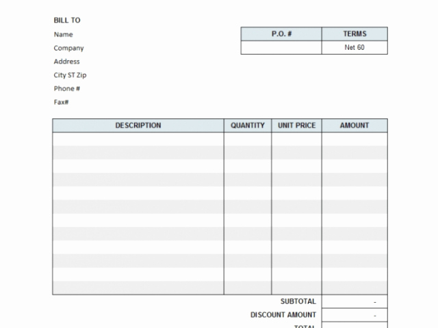 tax invoice template open office