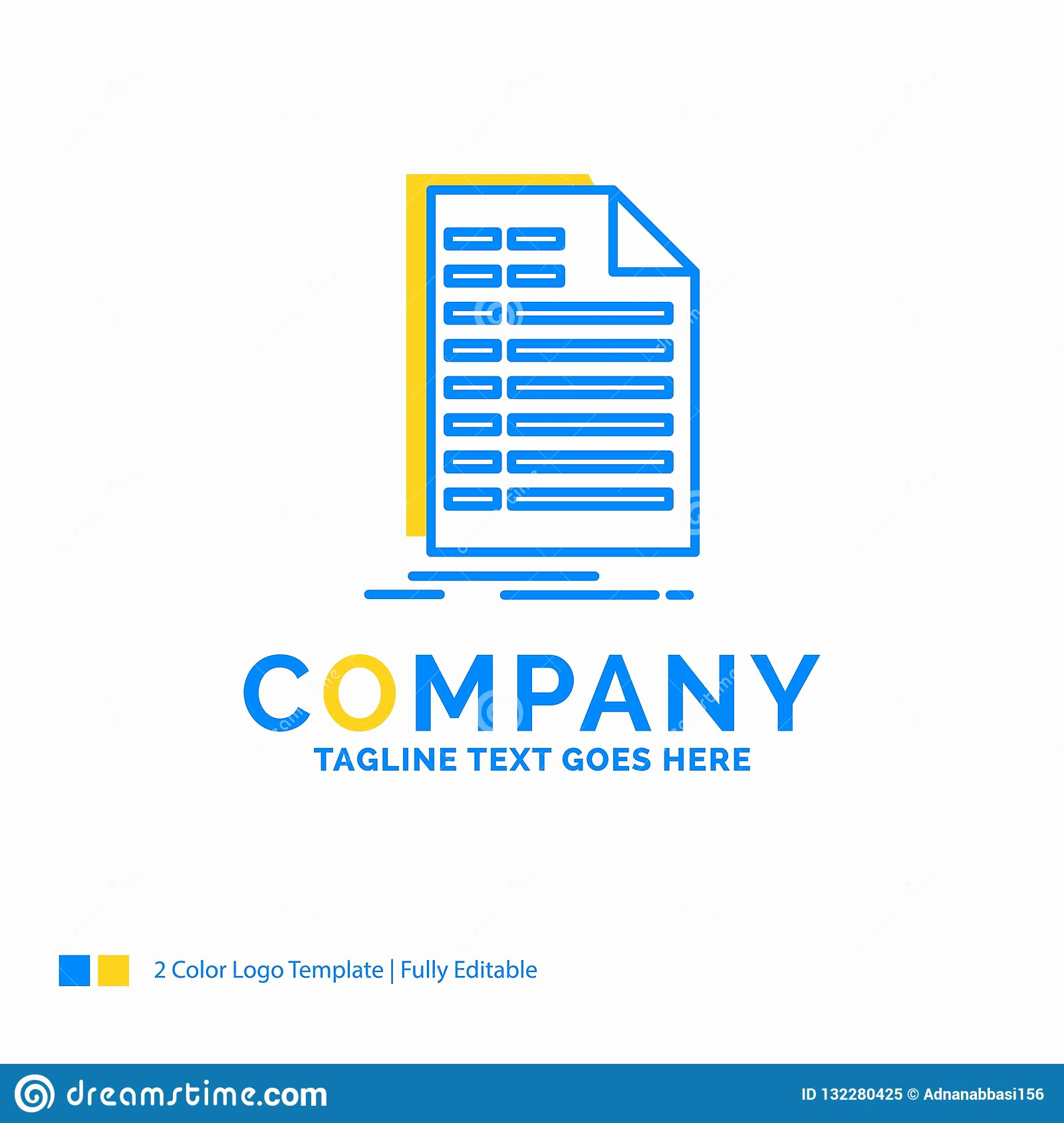 Invoice Template with Logo Inspirational Bill Excel File Invoice Statement Blue Yellow Business