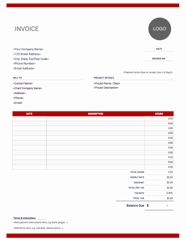 Invoice Template with Logo Unique Consulting Invoice Templates Free Download