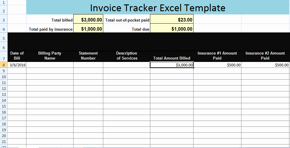 Invoice Tracking Template Excel Beautiful Invoice Tracker Excel Template Xls – Microsoft Excel