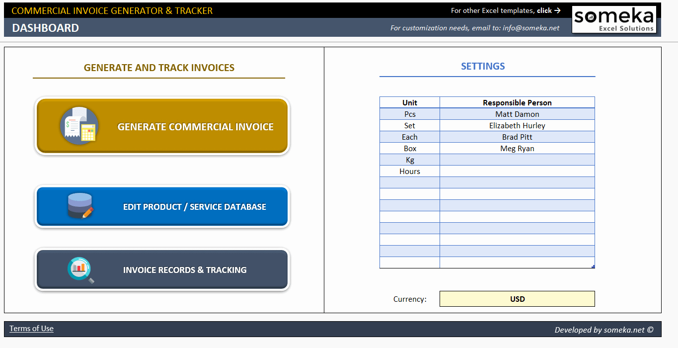 Invoice Tracking Template Excel Best Of Mercial Invoice Template Excel Invoice Generator