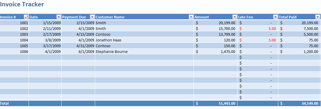 Invoice Tracking Template Excel Lovely Invoice Tracking Excel Template
