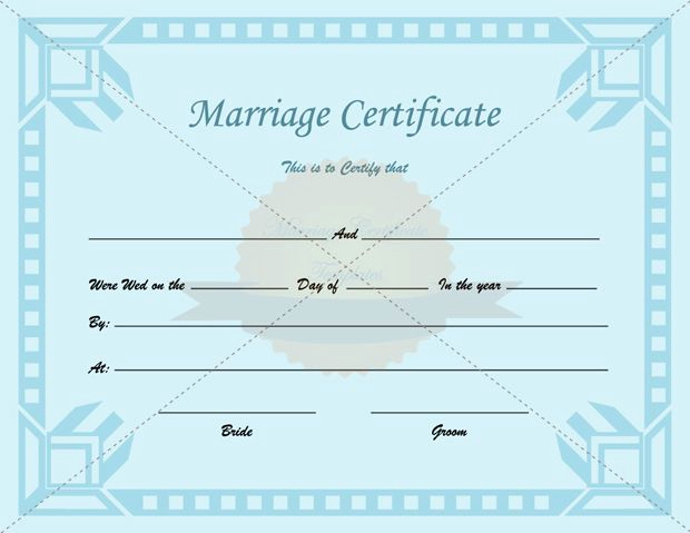 Islamic Marriage Certificate Template Elegant Certificate Of Marriage Printable Template