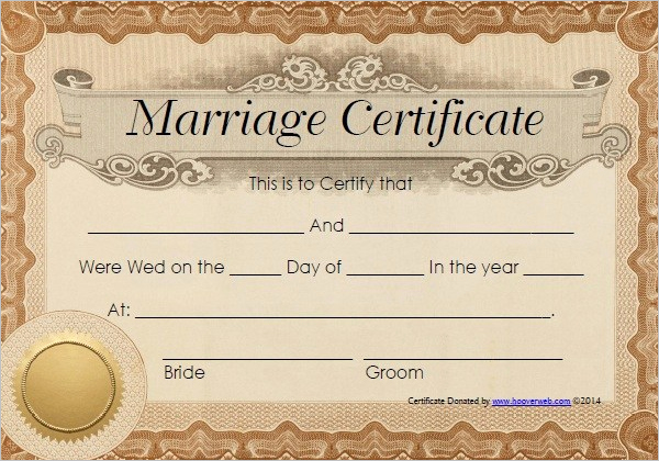 Islamic Marriage Certificate Template Fresh 42 Free Marriage Certificate Templates Word Pdf Doc