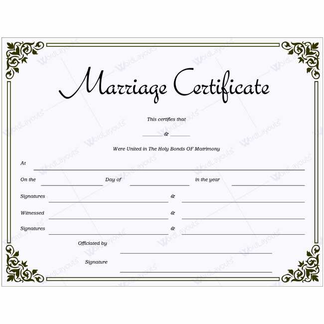 Islamic Marriage Certificate Template Fresh Marriage Certificate 41 In 2019
