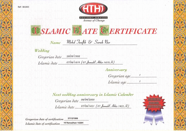 Islamic Marriage Certificate Template Inspirational Htht Advisory Services Pte Ltd