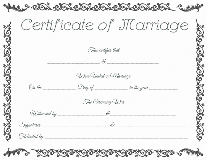 Islamic Marriage Certificate Template Luxury Printable Marriage Certificate Template Dotxes