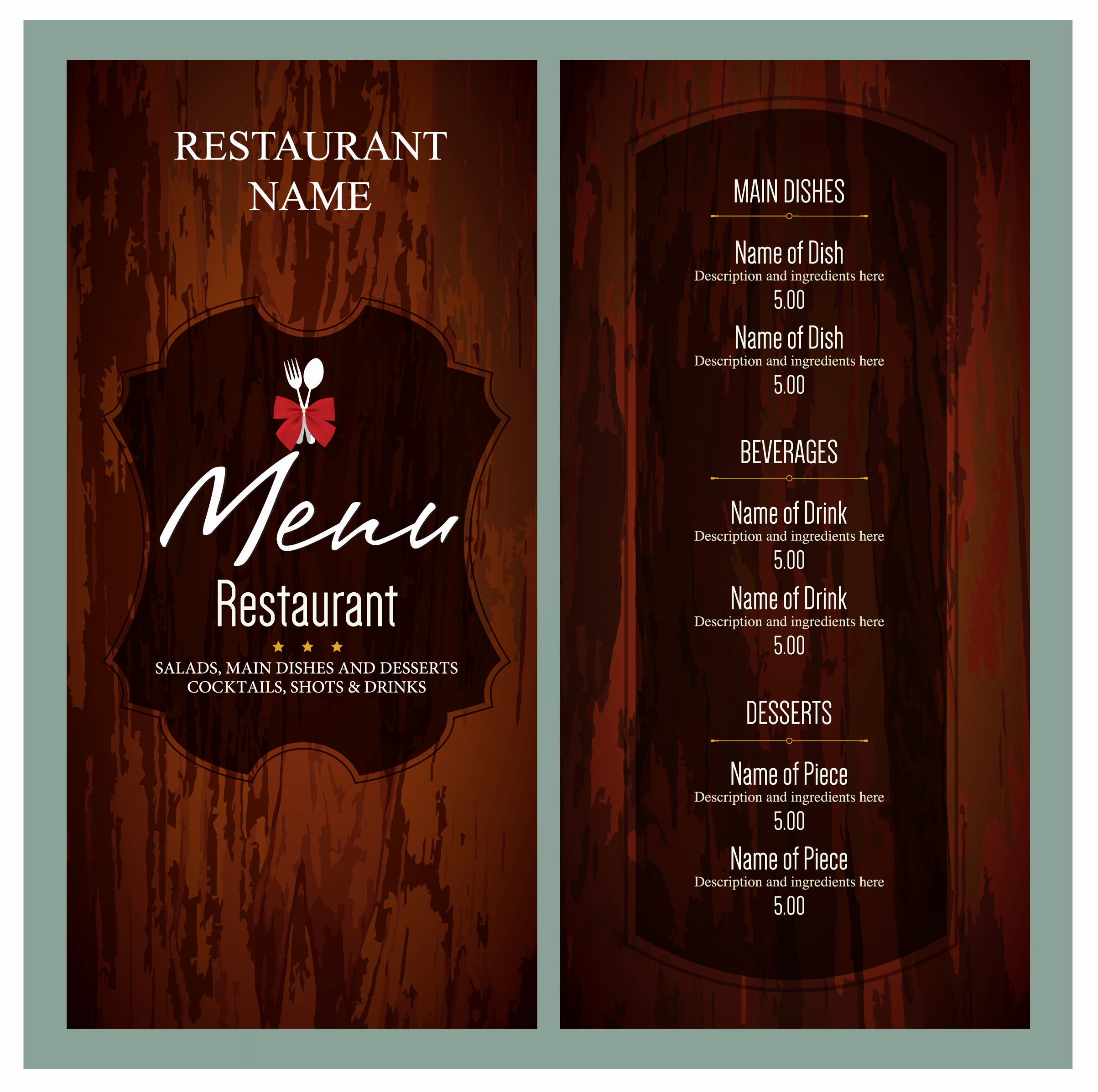 Italian Restaurant Menu Template Inspirational 10 Free Sample Italian Menu Templates Printable Samples