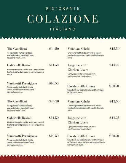 Italian Restaurant Menu Template Inspirational Ristorante Gabbriello Templates by Canva