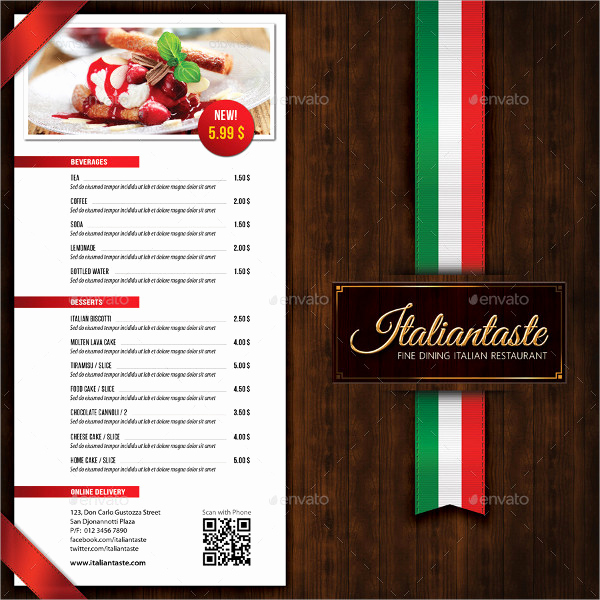 Italian Restaurant Menu Template Lovely 23 Restaurant Brochure Templates Free & Premium Download