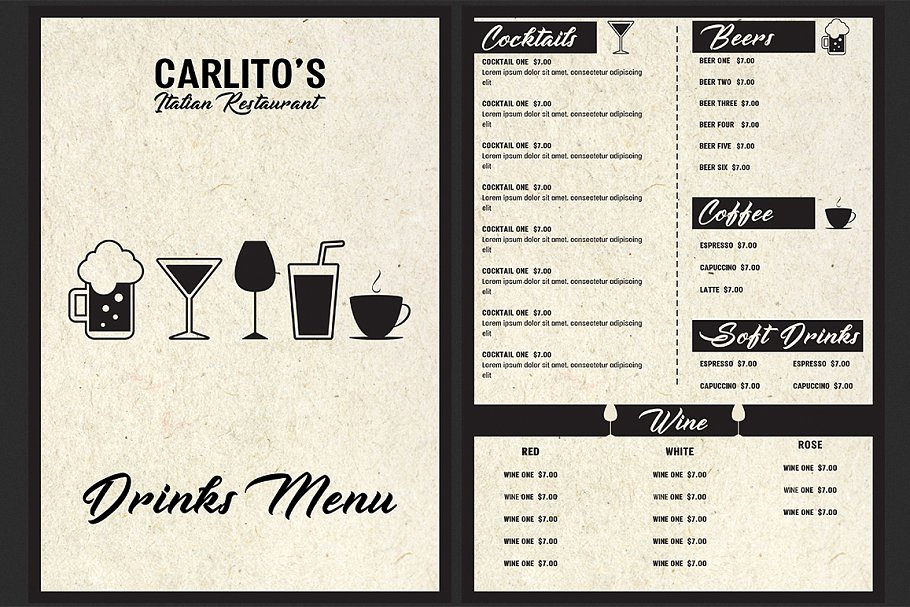 Italian Restaurant Menu Template Lovely Italian Restaurant Menu Template Flyer Templates