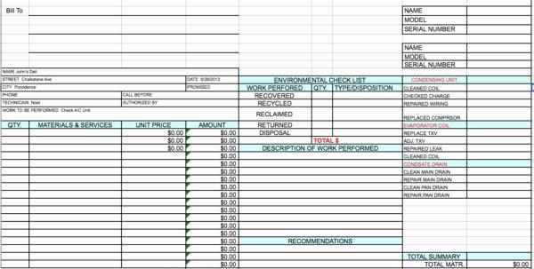 Labor Invoice Template Excel Elegant Labor Invoice Free Excel Template General Labor Invoice