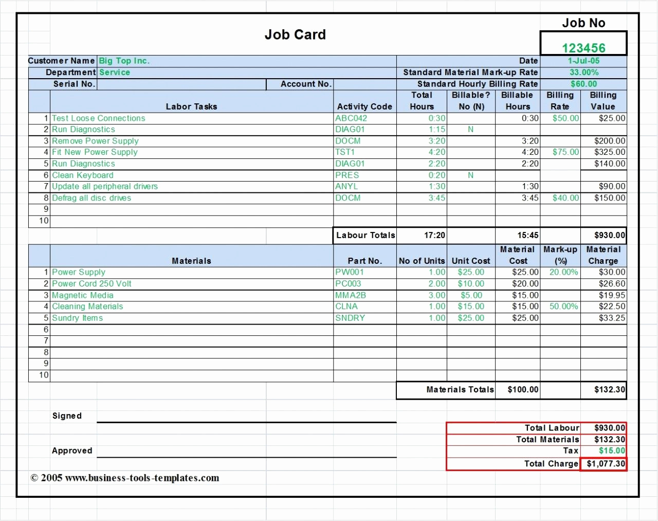 Labor Invoice Template Excel Inspirational the Business tools Store Labor