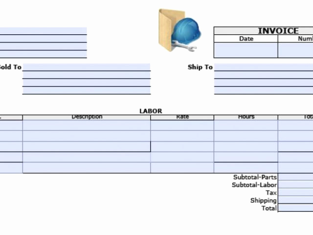 Labor Invoice Template Word Elegant Free General Labor Invoice Template Excel Pdf