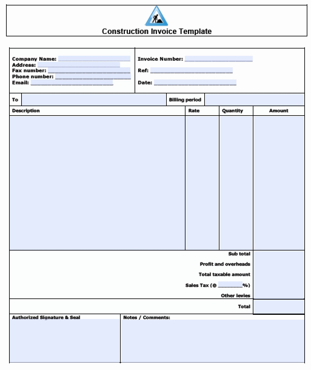 Labor Invoice Template Word Elegant General Labor Invoice Expense Spreadshee General Labor