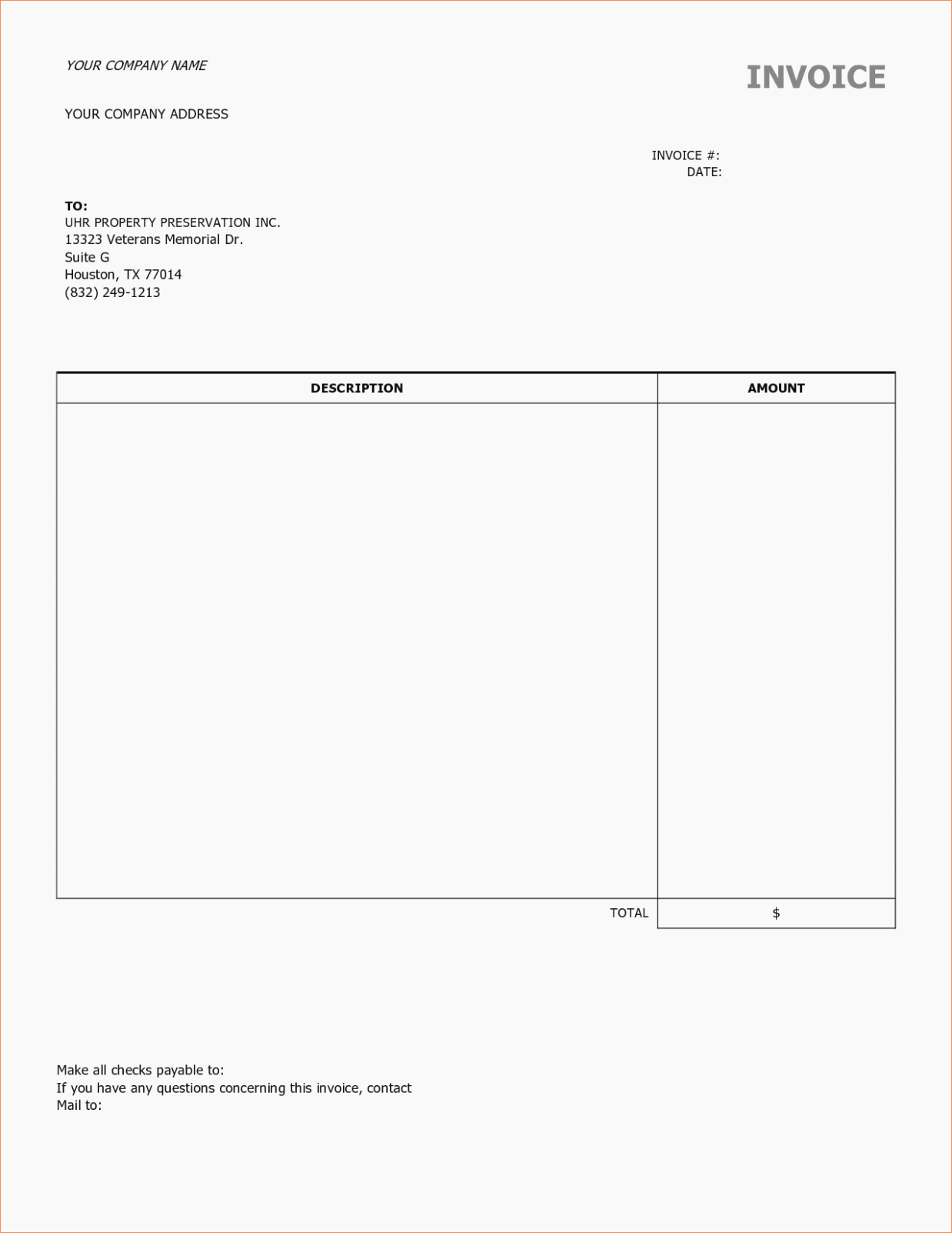 Labor Invoice Template Word New the Five Mon
