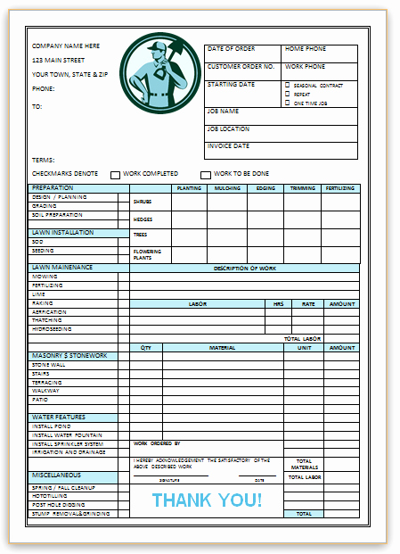 Landscaping Invoice Template Free Best Of Landscaping Invoice Template 3