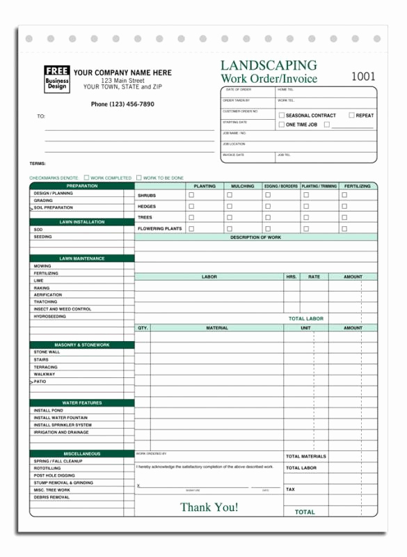 Lawn Care Invoice Template Awesome Lawn Care Invoice