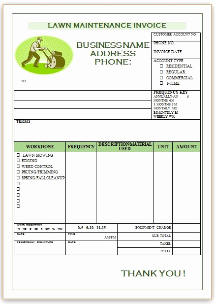 Lawn Service Invoice Template Elegant 10 Free Landscaping Invoice Templates [professional