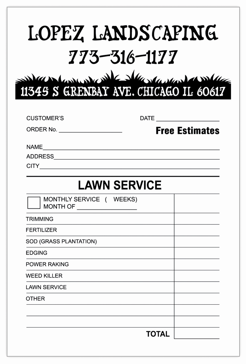 Lawn Service Invoice Template Excel Elegant Landscaping Invoice Template