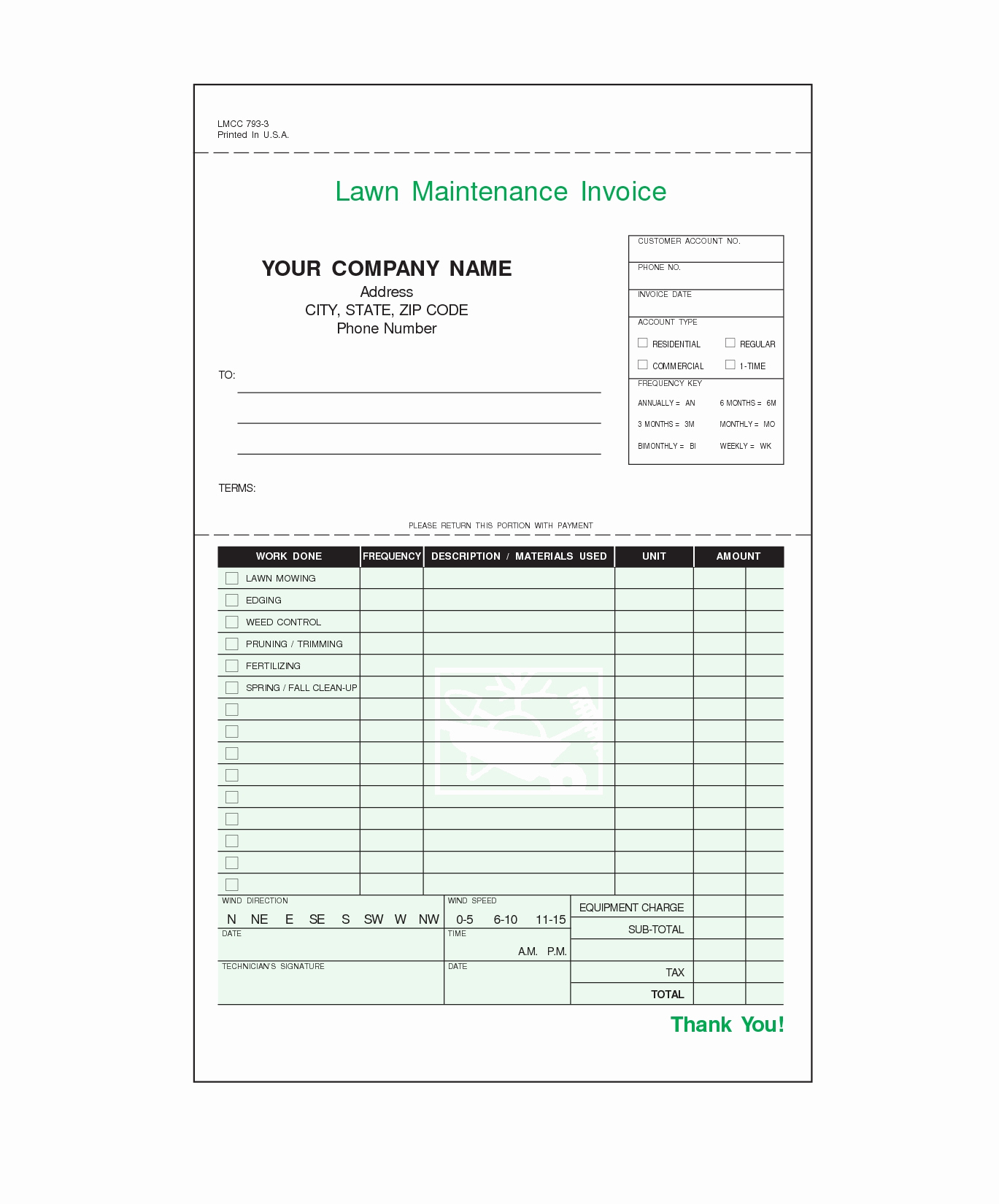 Lawn Service Invoice Template Excel Elegant Lawn Maintenance Invoice forms – Db Excel