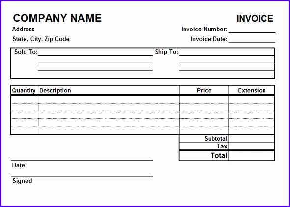 Lawn Service Invoice Template Excel Lovely 11 Receipt Template Excel Free Exceltemplates