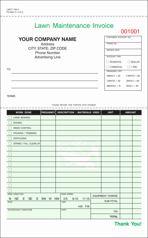 Lawn Service Invoice Template Excel Unique Free 9 Lawn Care Invoice Samples & Templates In Pdf