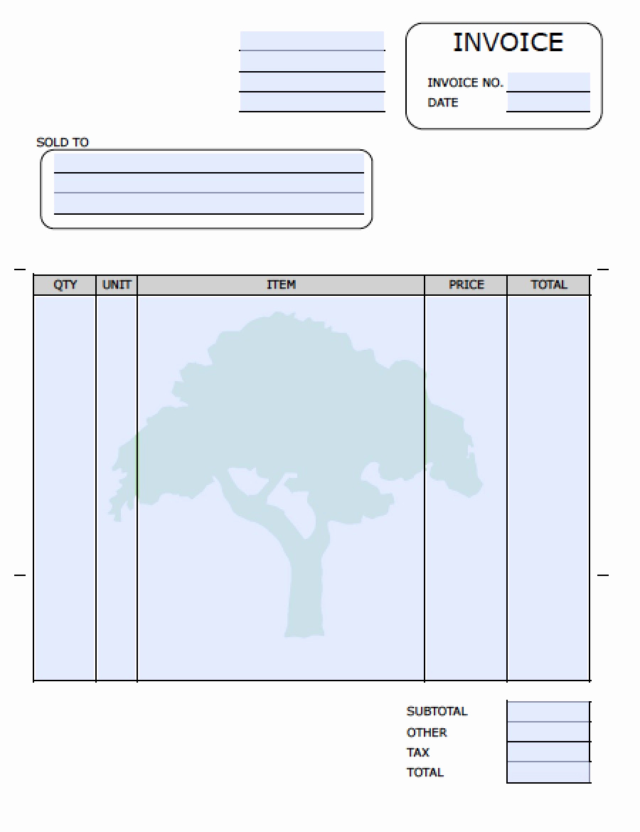 Lawn Service Invoice Template Lovely Landscaping Invoice Template
