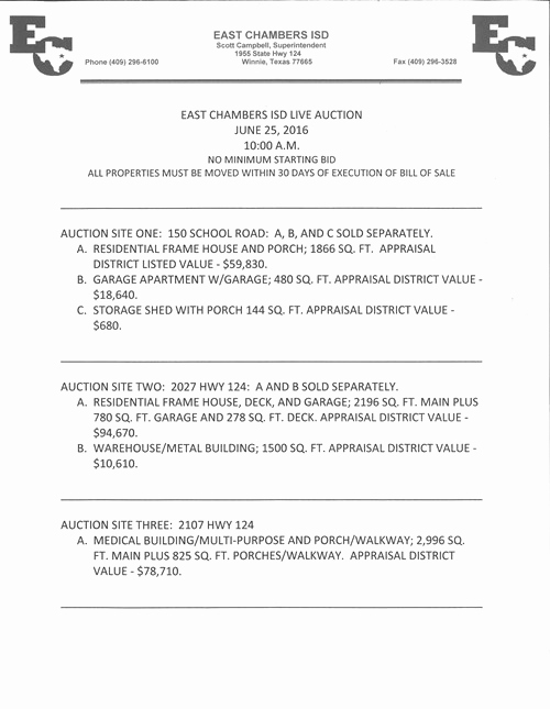 Lease Violation Notice Template Awesome Notice Of Live Auction Of Surplus Personal Property East