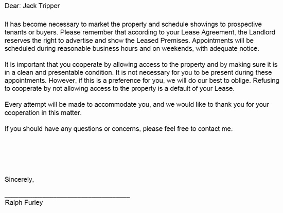 Lease Violation Notice Template Elegant Landlord Tenant Notices – Rental Property Notices