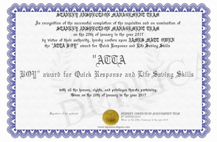 Life Saving Award Certificate Template Beautiful Life Saving Award Certificate Template 7 Best Templates