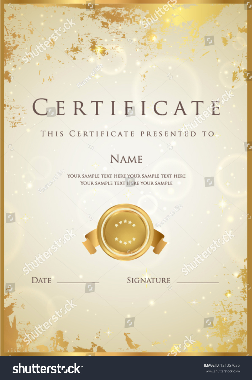 Life Saving Award Certificate Template Fresh Vertical Beige Certificate Pletion Template with