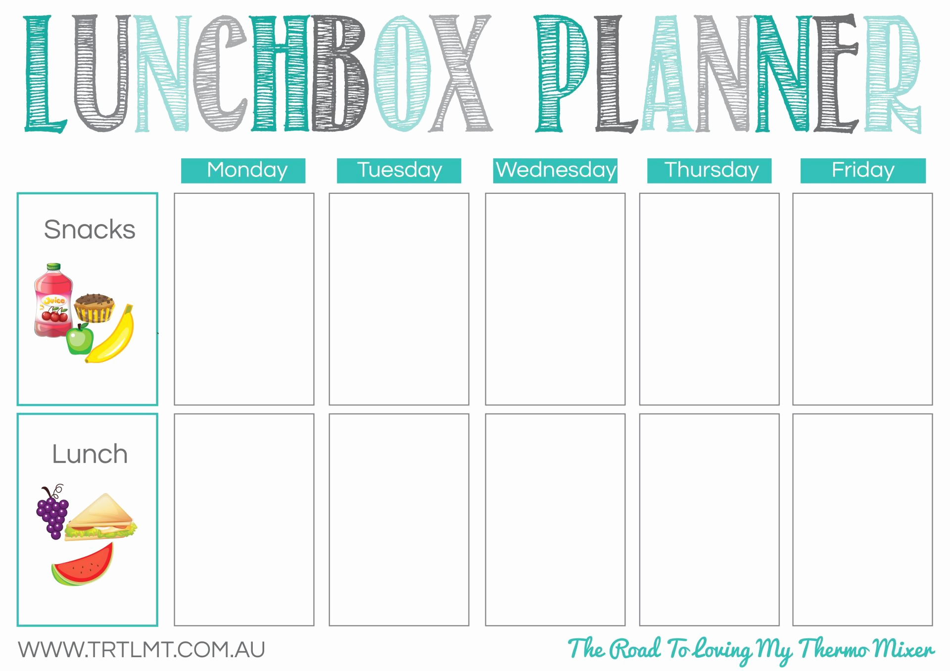 Lunch Menu Template Free Awesome Printables