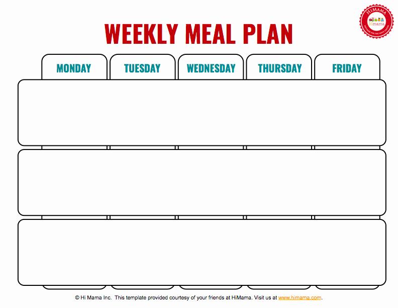 Lunch Menu Template Free Best Of Himama Daycare Menu Template Child Care Weekly Menu