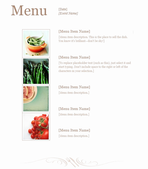 Lunch Menu Template Free Luxury 13 Free Sample Lunch Menu Templates Printable Samples