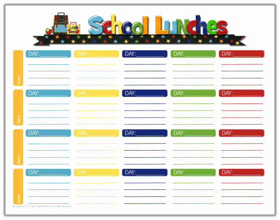 Lunch Menu Template Free New School Lunch Ideas & A Free School Lunches Printable