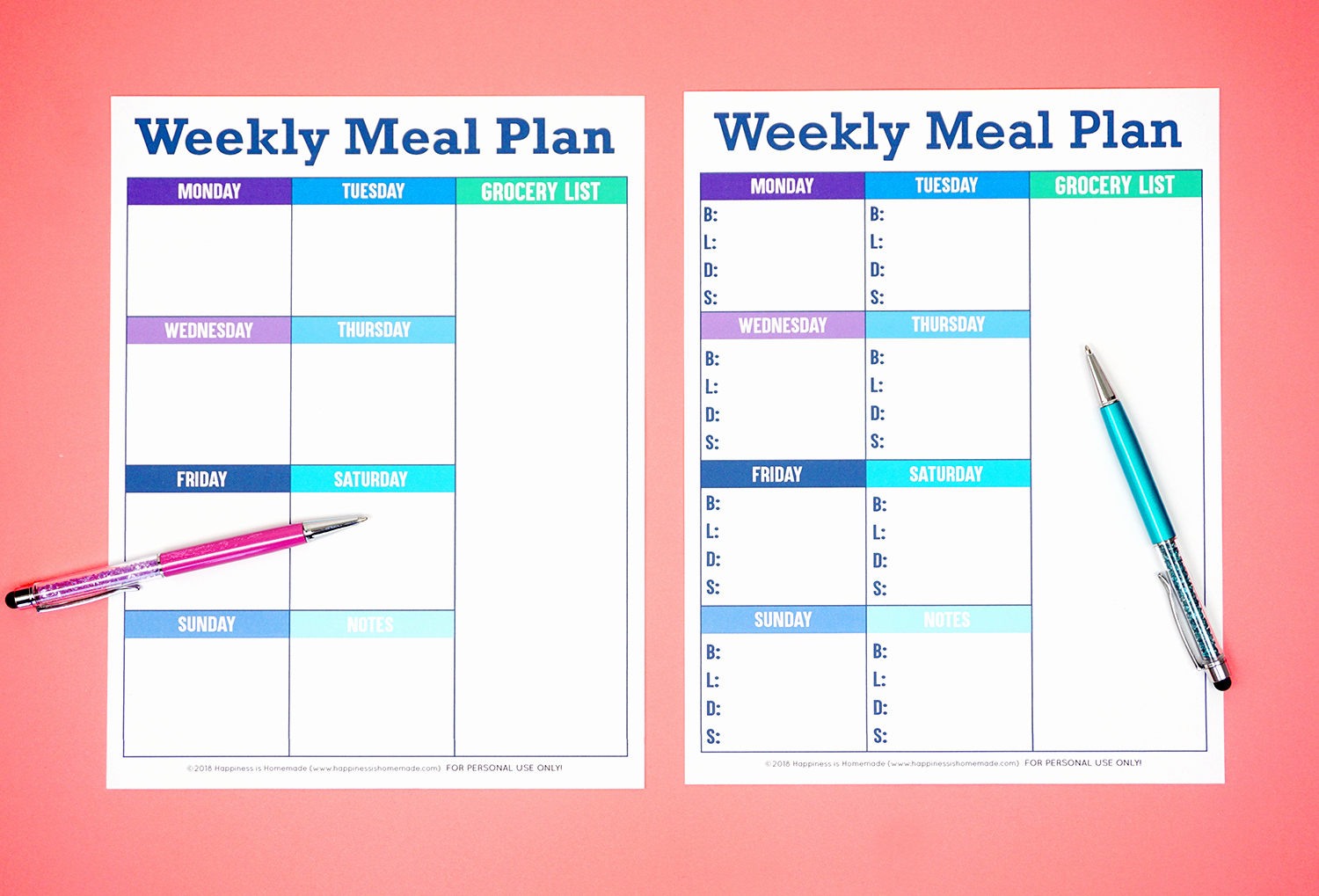 Lunch Menu Template Free Unique Printable Weekly Meal Planner Template Happiness is Homemade