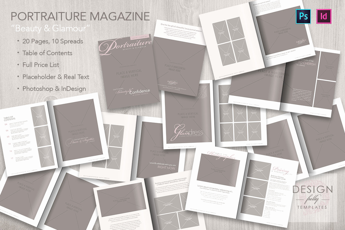 Magazine Subscription Gift Certificate Template Beautiful Portraiture Magazine Template Psd Cs6up and Idcs4up